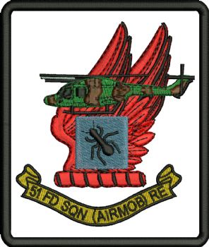 51 FD SQN (AIRMOB) RE Embroidered Badge